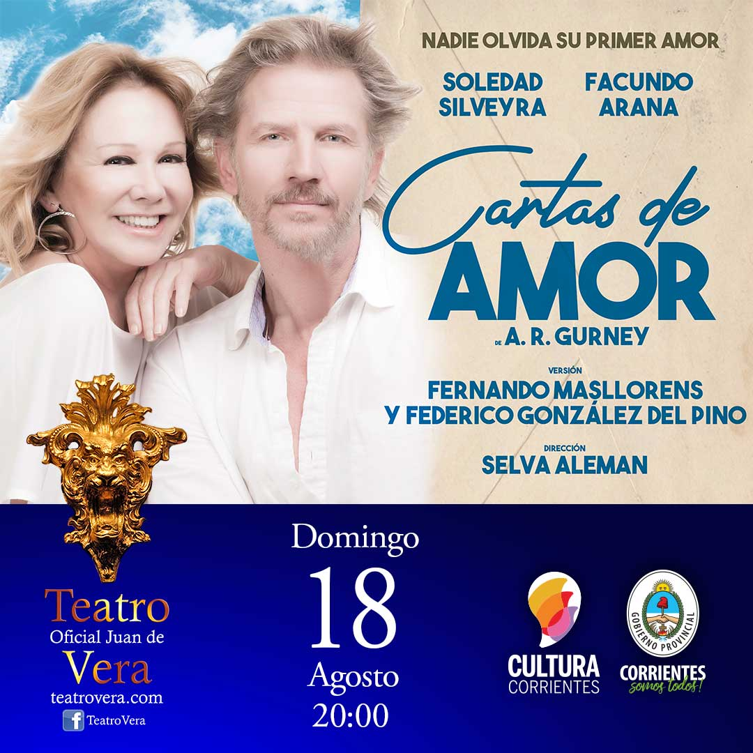"""Teatro Vera de Ctes. Soledad Silveyra y Facundo Arana: """"Cartas de amor"""""""