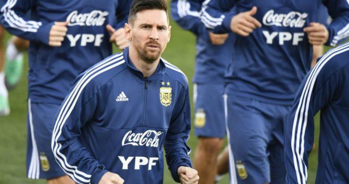AMISTOSOS INTERNACIONALES: ARGENTINA SE ENTRENÓ CON LA PRESENCIA DE MESSI