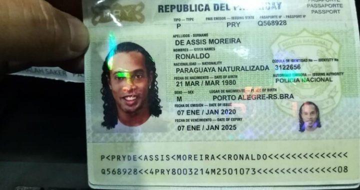 SE FILTRÓ EL INCREÍBLE PASAPORTE ADULTERADO POR EL QUE FUE DETENIDO RONALDINHO EN PARAGUAY
