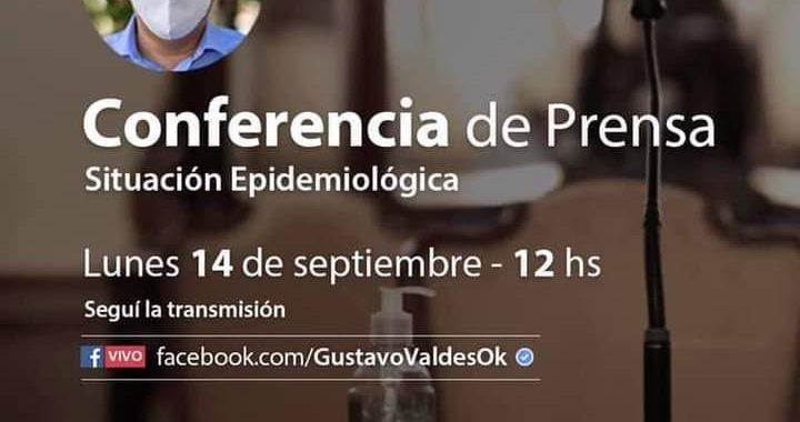 HOY A LAS 12 HORAS, SERÁ LA CONFERENCIA DE PRENSA DEL GOBERNADOR GUSTAVO VALDÉS